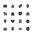 discount tags - flat icons vector image vector image
