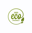 eco icon design ecology logo with leaf on white vector image vector image