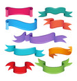 empty cartoon ribbons and banners vector image vector image