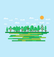 forest in flat style summer eco lifestyle vector image vector image