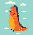 funny dinosaur vector image vector image