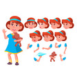 girl child kid teen friend clever vector image