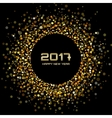 Gold confetti circle New Year 2017 background vector image vector image
