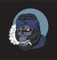 gorilla smoke vector image vector image