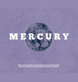 hand drawn mercury planet vector image