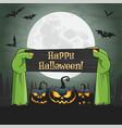 happy halloween concept vector image vector image