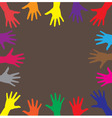 human hands vector image