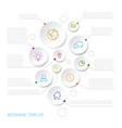 infographic report poster with circles vector image vector image
