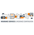 insurance services process infographics vector image vector image