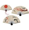 Japanese fans set vector image vector image