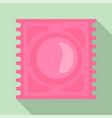 latex condom icon flat style vector image vector image