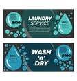 Laundry service banners vector image vector image