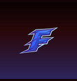 letter f game logo e sport gaming vector image vector image