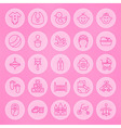 Line Circle Newborn and Baby Icons Set vector image vector image
