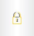 lock symbol stylized logo vector image vector image