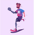 man with a prosthesis is running sport concept vector image vector image