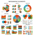 Modern set of business infographic elements vector image vector image