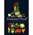 Natural vegetarian vegetables food poster vector image vector image