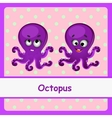 Octopus funny characters on a pink background vector image vector image