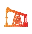 Oil drilling rig sign Orange applique isolated vector image vector image