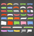 Paper banners and ribbons collection vector image vector image
