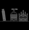 pisa silhouette skyline italy - pisa city vector image