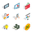 purchase of clothes icons set isometric style vector image