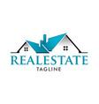 real estate modern home design logo template vector image
