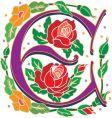rosette letter E vector image vector image
