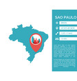 sao paulo map infographic vector image