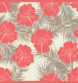 seamless tropical pattern with brown leaves vector image vector image