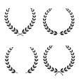 set of laurel wreaths of different shapes vector image vector image