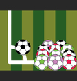 soccer ball is corner kick on the field vector image