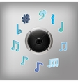 Speaker music sound vector image vector image