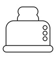 steal toaster icon outline style vector image vector image