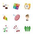 Success in business icons set cartoon style vector image vector image