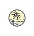 tropical emblem logo vector image