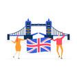 visit uk - colorful flat design style vector image