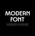 white modern font elegant style alphabet vector image