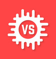 white versus icon with shadow vector image vector image