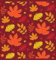 seamless autumn texture vector image