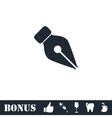 Fountain pen icon flat vector image
