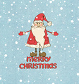 with Santa Claus vector image
