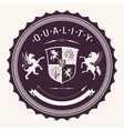 quality badges vector image