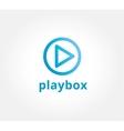Abstract play button logo icon concept Logotype vector image