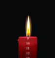 Advent candle red 9 vector image vector image