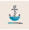 anchor symbol image vector image