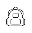 backpack equipment tourism travel thick line vector image vector image