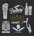 beer sketch set glass and bottle vector image