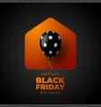 black friday sale banner for online shop vector image